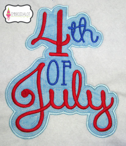 4th of July applique.