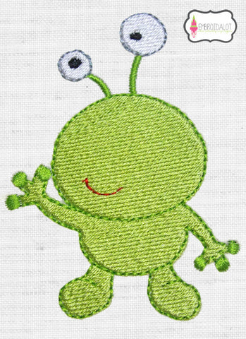 Alien embroidery design.