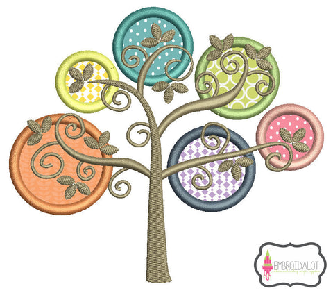 Modern tree applique.