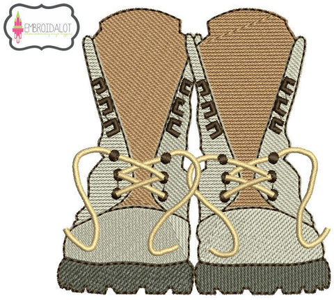 Army boots embroidery.