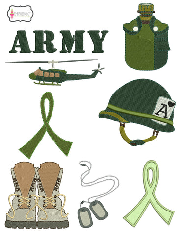 Army embroidery set.