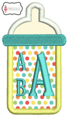 Baby bottle monogram frame.