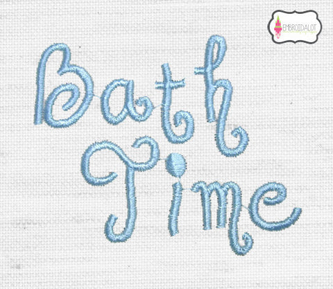 """Bath Time"" embroidery."