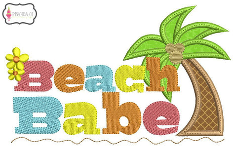 """Beach Babe"" applique embroidery."