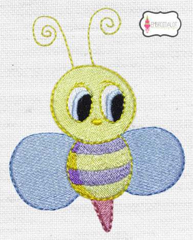 Cute bee embroidery.