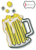 Beer mug embroidery.
