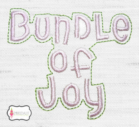 """Bundle of Joy"" embroidery."