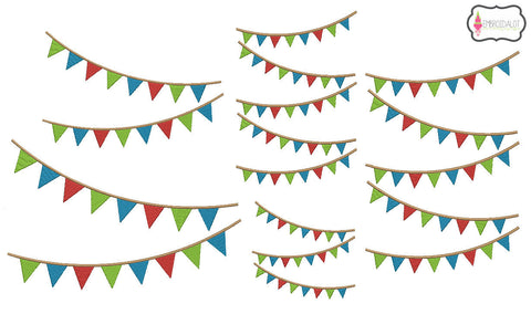 Bunting embroidery.