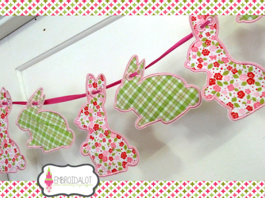 Bunny bunting, standing shape.