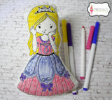 Colour in princess softie.