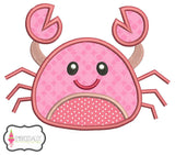 Cute crab applique