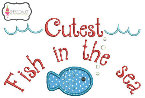 Boys cute fishing applique.