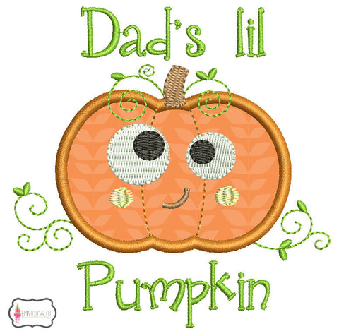 Dad's lil pumpkin applique.