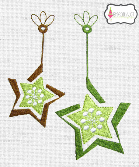 Modern stars embroidery.