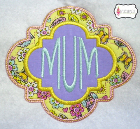 Fancy frame applique no3.