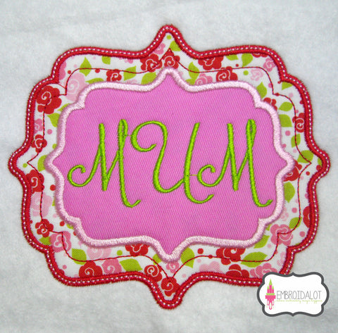 Fancy frame applique no2.