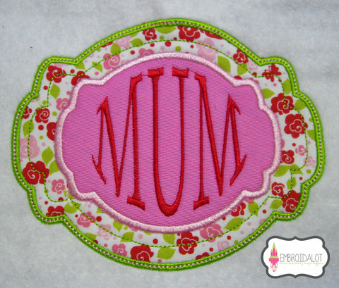 Fancy frame applique no1.