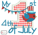 My 1st 4th of July applique.