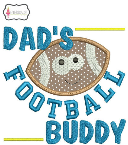 Dad's football buddy embroidery design.