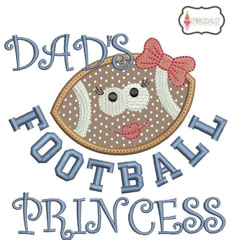 Football Princess applique.