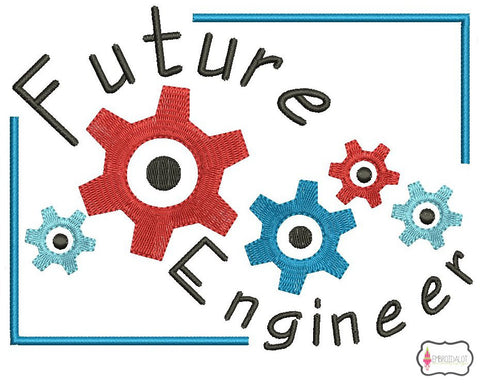 """Future Engineer"" embroidery."