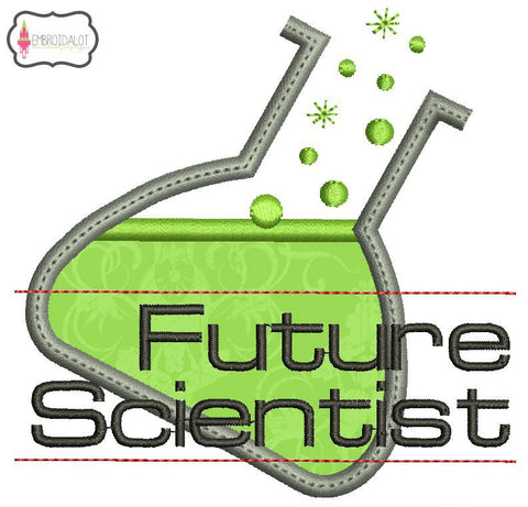 """Future Scientist"" embroidery."