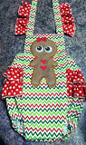 Gingerbread girl applique.