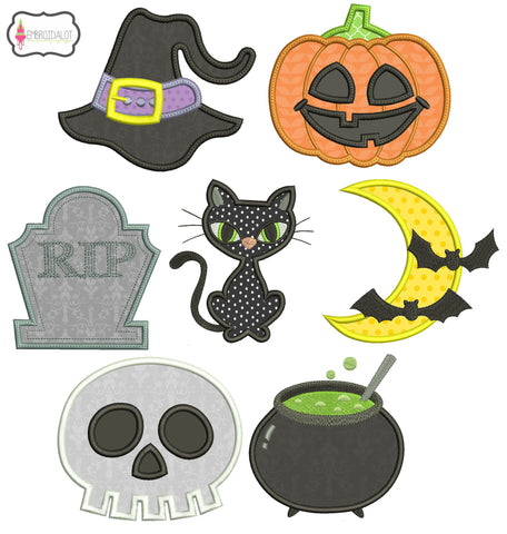 Halloween shapes applique set.