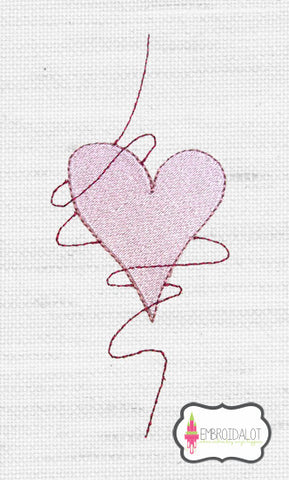 Hearts embroidery design 4.