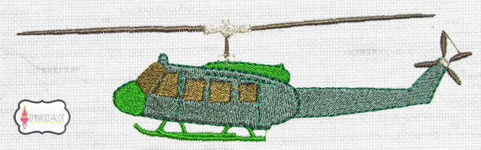 Helicopter embroidery design.