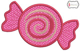 Candy with swirl applique.