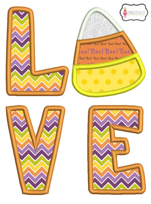Love Candycorn applique.