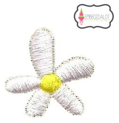 Mini daisy / flower embroidery design.