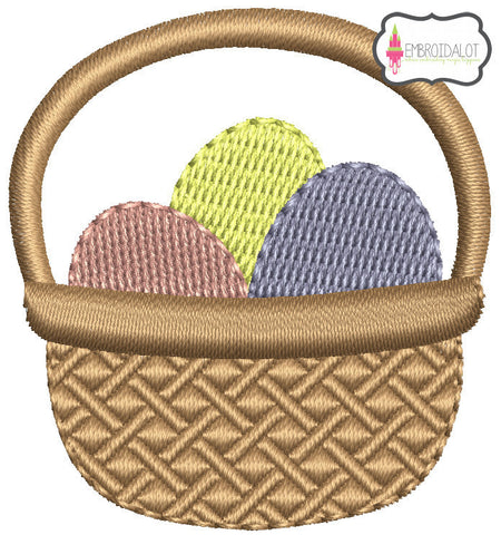 Mini Easter basket embroidery.