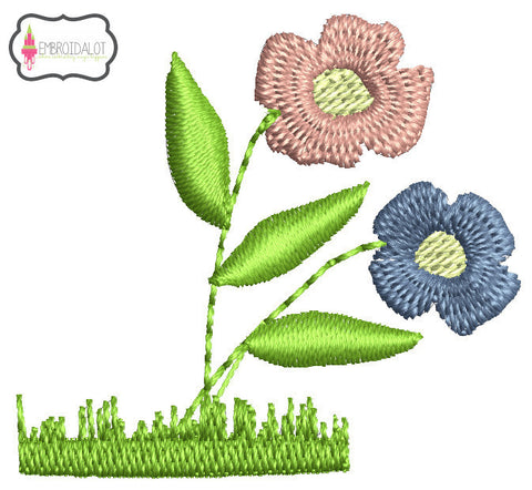 Mini flowers embroidery design.