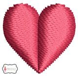 Mini heart embroidery design.