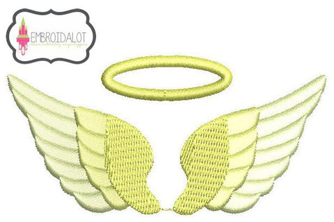 Mini Angel wings with halo.