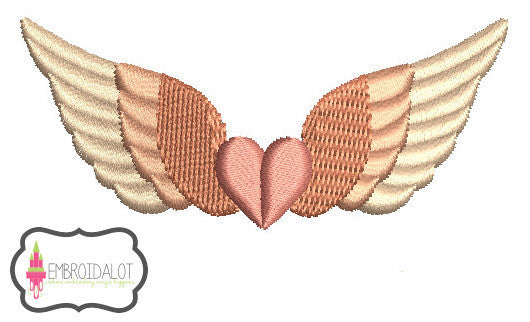 Mini Angel wings with heart.