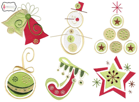 Modern Christmas embroidery set 2.