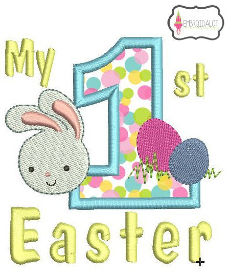 My first Easter applique.