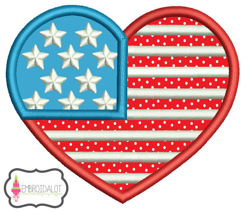 American heart applique.