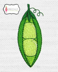 Peas embroidery.