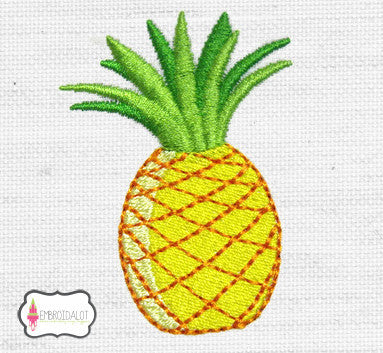 Pineapple embroidery design.