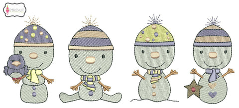 Snow baby embroidery set.