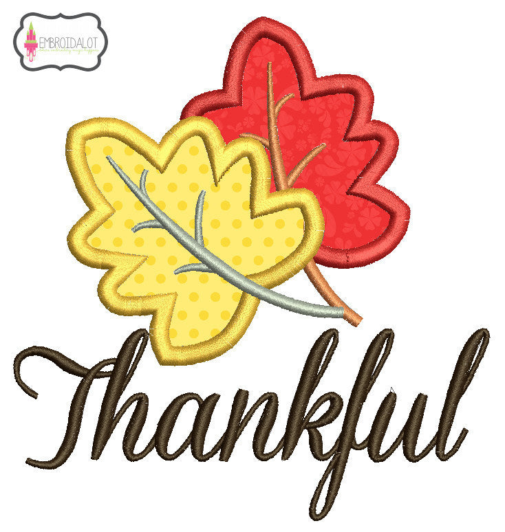 """Thankful"" applique."