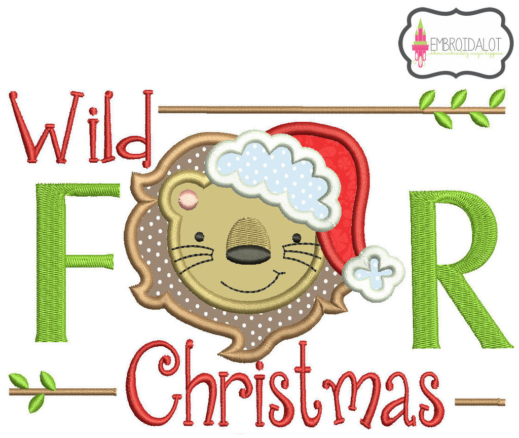Wild for Christmas applique.