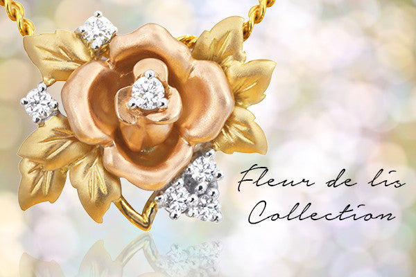 Fleur de Lis floral gold and diamond jewellery collection