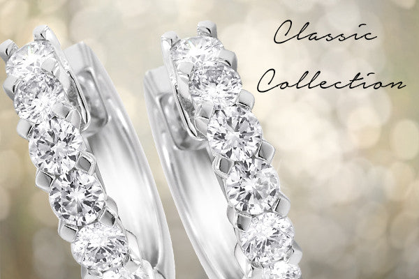 Classic Diamond Jewellery Collection including Diamond Rings, Diamond Earrings, Diamond Bangles and More.