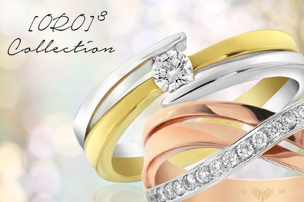 Diamond Jewellery in three tone gold. Designer Rings in Adelaide.