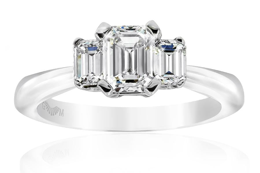 Gerard McCabe Classic Tria Emerald Cut Diamond Ring